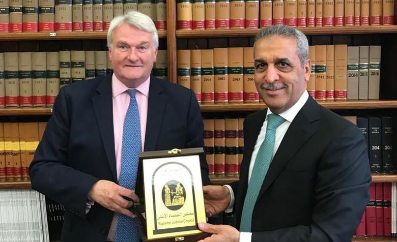 The Lord Chief Justice of England and Wales, Sir Ian Burnett, welcomed the Chief Justice of Iraq, Faiq Zidan, to the Royal Courts of Justice in London.