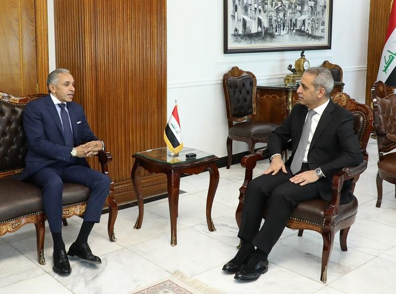 The President of the Supreme Judicial Council receives the Egyptian Ambassador