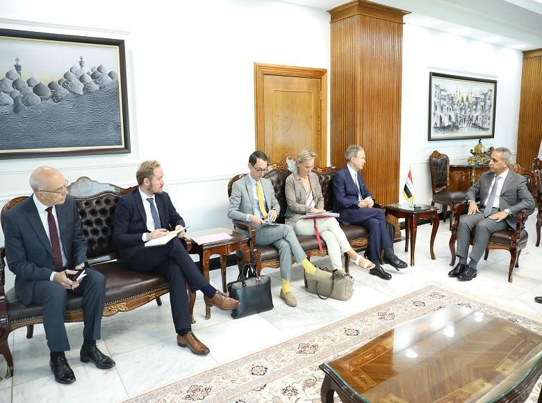 The President of the Supreme Judicial Council receives the French Ambassador