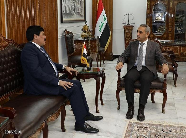 Judge Faiq Zidan Receives the Syrian Ambassador