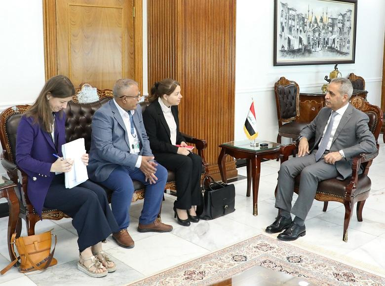 President of Supreme Judicial Council Receives Delegation of UN Human Rights Office