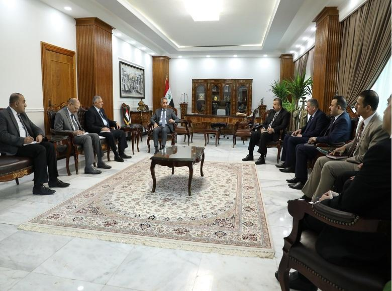 The President of the Supreme Judicial Council meets with the judges members of the Central Court against Corruption