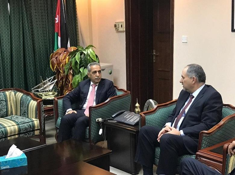 Judge Faiq Zidan Meets Jordanian Minister of Justice