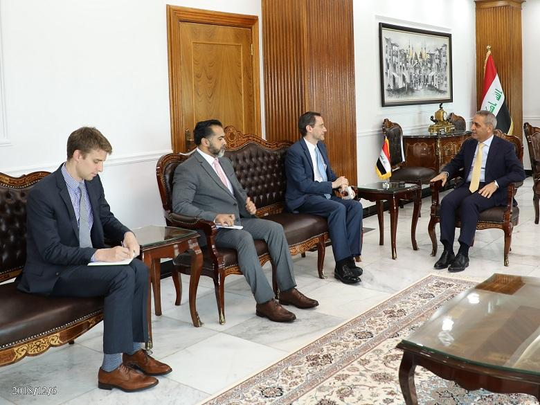 President of the Supreme Judicial Council Receives the Deputy of US  Ambassador