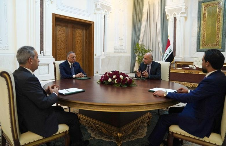President of the Supreme Judicial Council at the meeting of the three authorities (the importance of setting a realistic date for early elections)