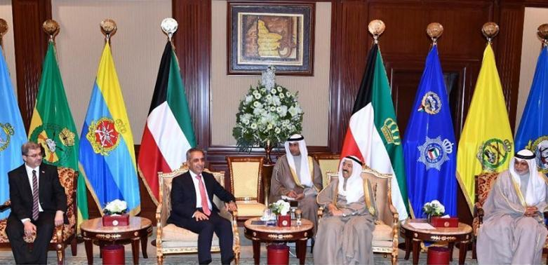 Prince of State of Kuwait Receives the President of the Supreme Judicial Council and the Accompanying Delegation