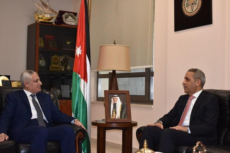 President of the Jordanian Judicial Council, judge Mohammed Al-Ghazo, Receives the President of the Supreme Judicial Council
