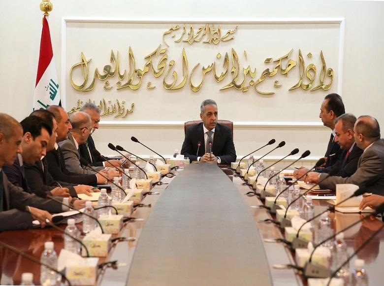 The President of the Supreme Judicial Council meets with the judicial body charged with investigating events