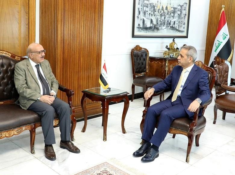 President of Supreme Judicial Council Receives President of Iraqi Bar Association