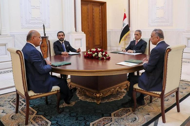 President of Supreme Judicial Council attends a meeting of the three presidencies