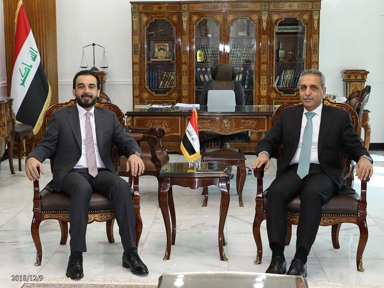 President of the Supreme Judicial Council Receives the Speaker of the Council of Representatives