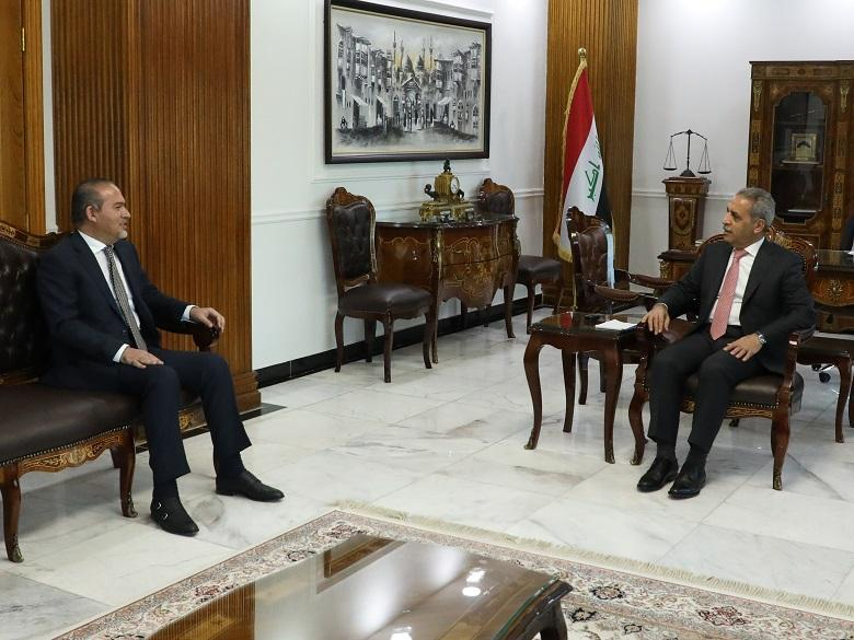 President of Supreme Judicial Council receives Baghdad's Mayor