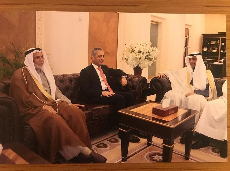 Speaker of the Kuwaiti National Assembly Receives the President of the Supreme Judicial Council and the Accompanying Delegation