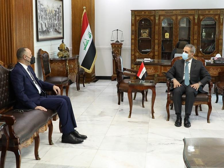 President of Supreme Judicial Council receives Head of Iraqi Media Network