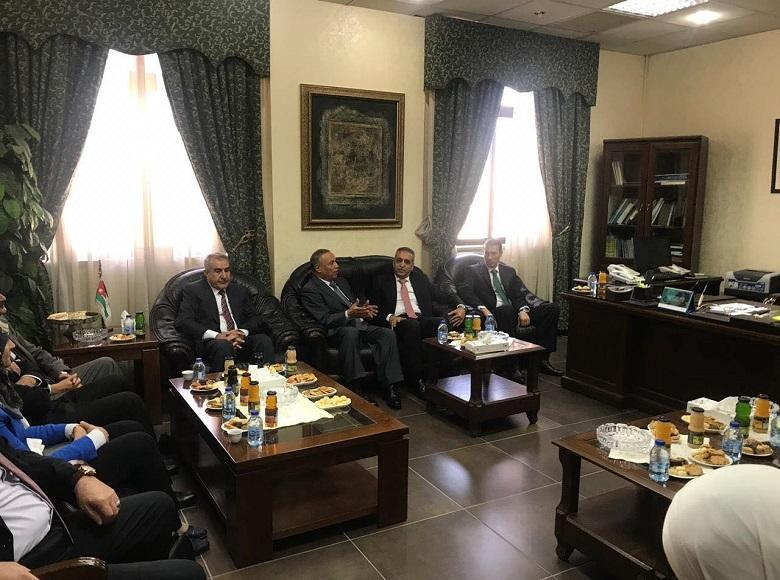 President of the Supreme Judicial Council Meets the Chief of the Supreme Administrative Court