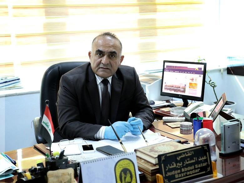 Judge Abdul-Sattar Bayraqdar for Judicial Media: A systematic campaign that affects the Iraqi judiciary through social media platforms, behind which the promoters lie, that  they are wanted for judicially for politically motivated or influences of political parties or personalities