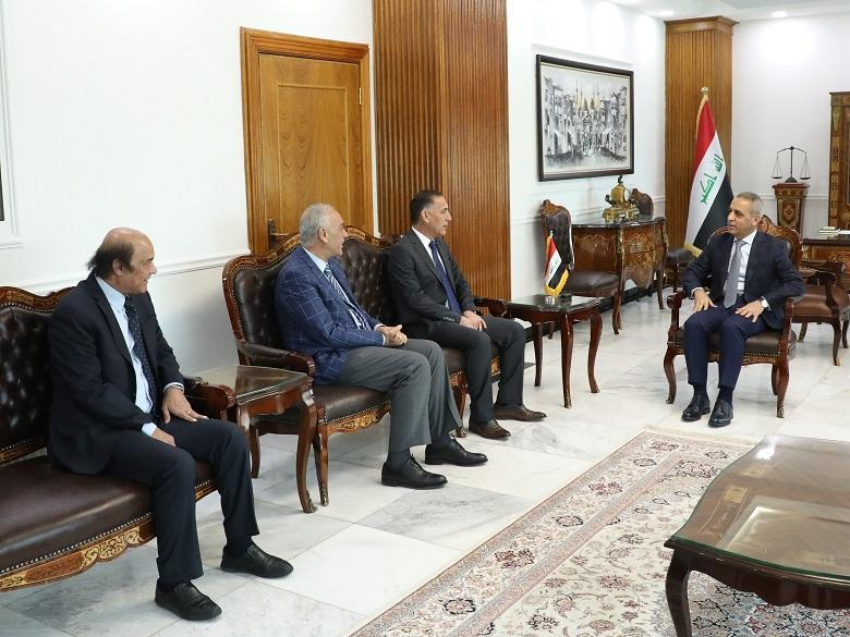 President of Supreme Judicial Council Receives  MP Abas Aleiwi , Mr. Raad Hammoudi and Mr. Falah Hassan