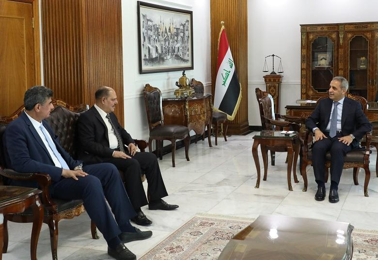 President of Supreme Judicial Council receives President of the Syndicate of Journalists