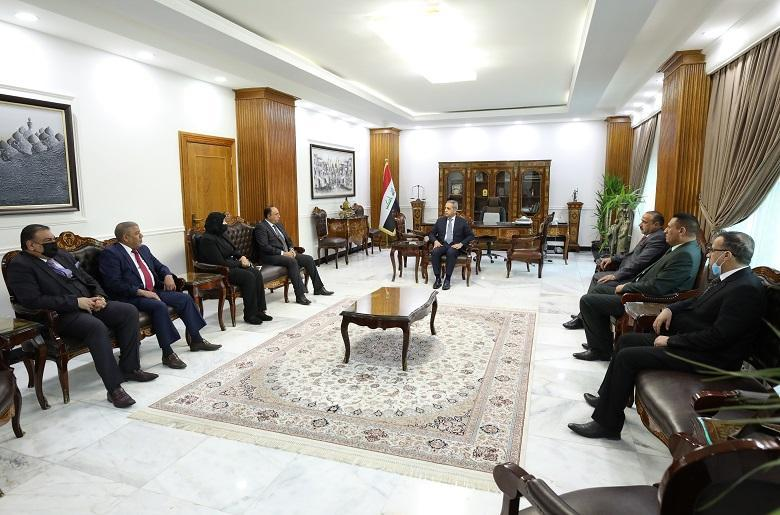 The President of the Supreme Judicial Council receives the President and members of the Iraqi Judicial Association
