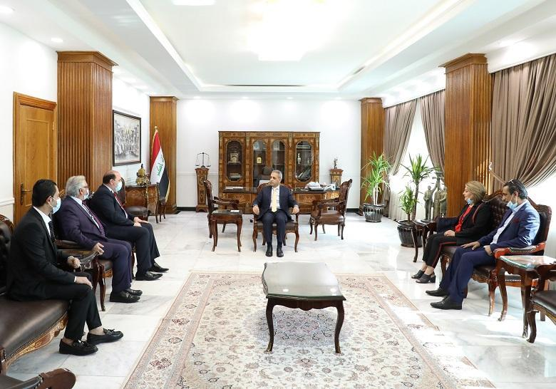 President of Supreme Judicial Council receives President of Iraqi Artists