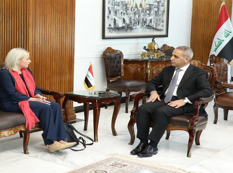 The President of the Judicial Council receives the representative of the Secretary-General of the United Nations