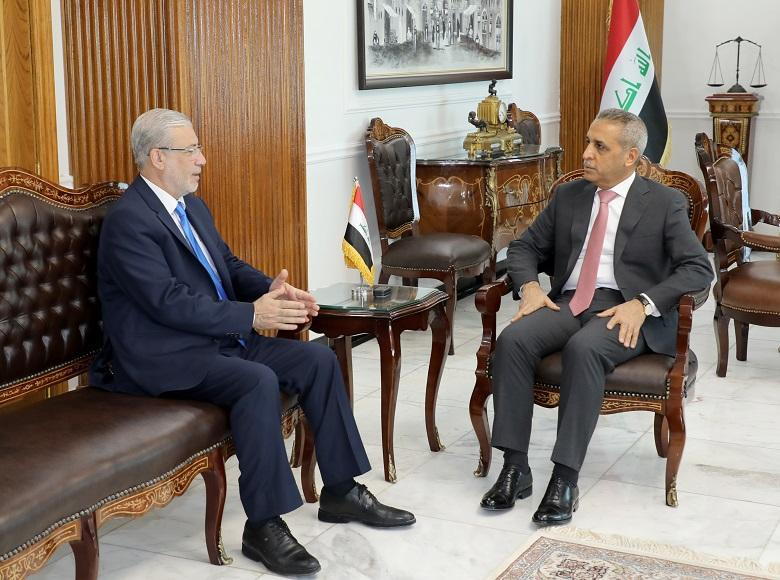 Judge Faiq Zidan Welcomes Second Deputy of the Speaker of the ‎Council of Representatives ‎