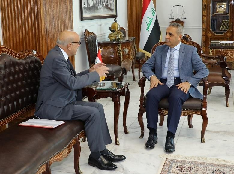 President of the Supreme Judicial Council Welcomes the President of ‎Iraqi Bar Association