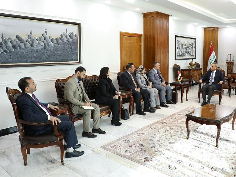 The president of the Supreme Judicial Council receives the president and members of the Federal Service Council.