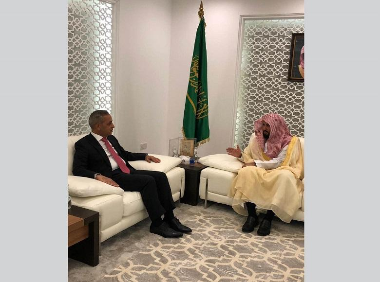 The President of the Supreme Judicial Council Meets his Saudi Counterpart in Riyadh