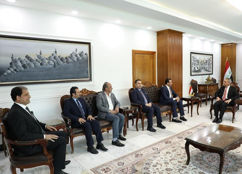 President of Supreme Judicial Council Receives President and Members of Board of Trustees at Iraqi Media Network
