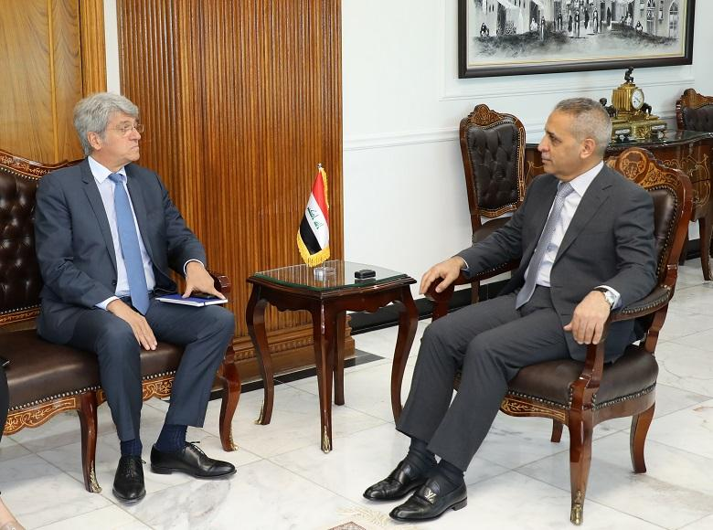 President of the Supreme Judicial Council Welcomes French Ambassador