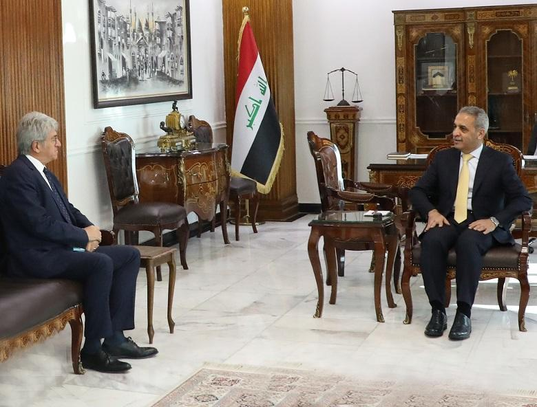 President of Supreme Judicial Council receives Ambassador of France to Iraq