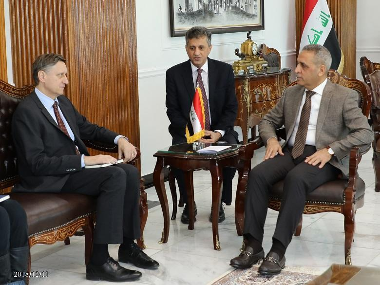 President of the Supreme Judicial Council Receives the German Ambassador