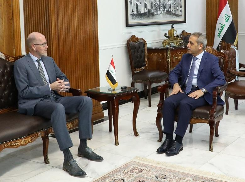 President of Supreme Judicial Council Receives Ambassador of Netherlands