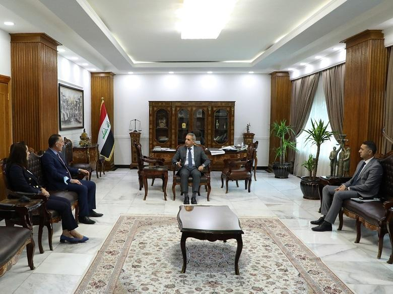 President of Supreme Judicial Council receives Head and members of Youth and Sport Committee of Council of Representatives