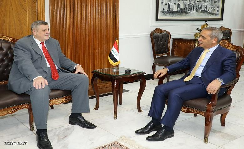 President of the Supreme Judicial Council receives the Representative of the Secretary –General of the United Nations Mission