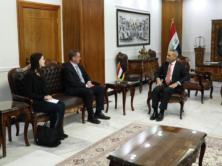 President of the Supreme Judicial Council Receives Ambassador of Republic of Germany