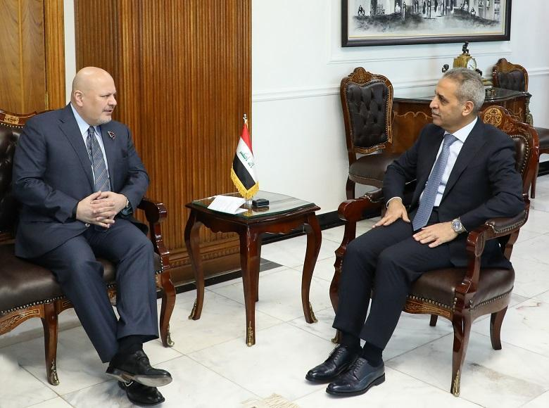 The head of the Supreme Judicial Council receives the special envoy of the international investigation team