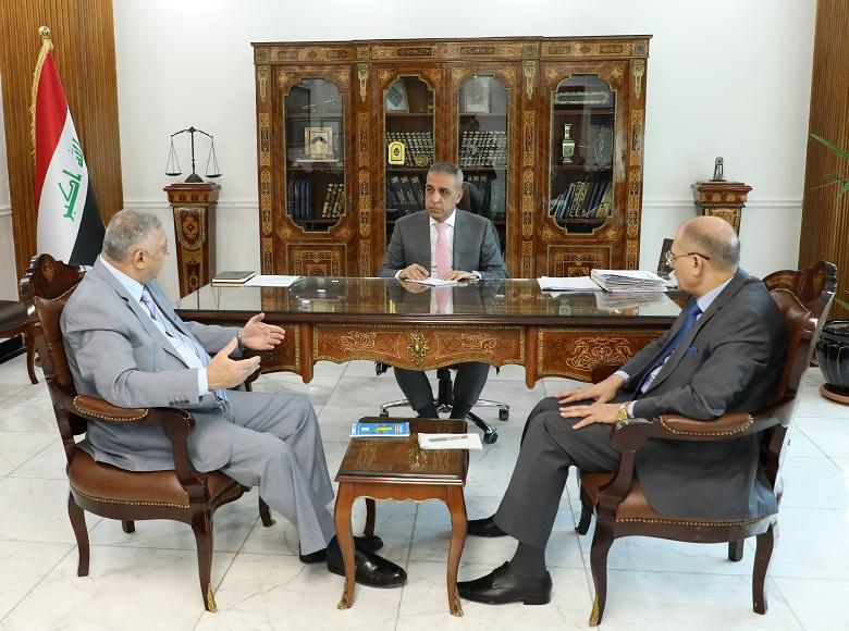 President of Supreme Judicial Council Discusses with Chiefs of Public Prosecution and Judicial Supervision Crimes of Drugs , Control Border Crossings and Combat Corruption