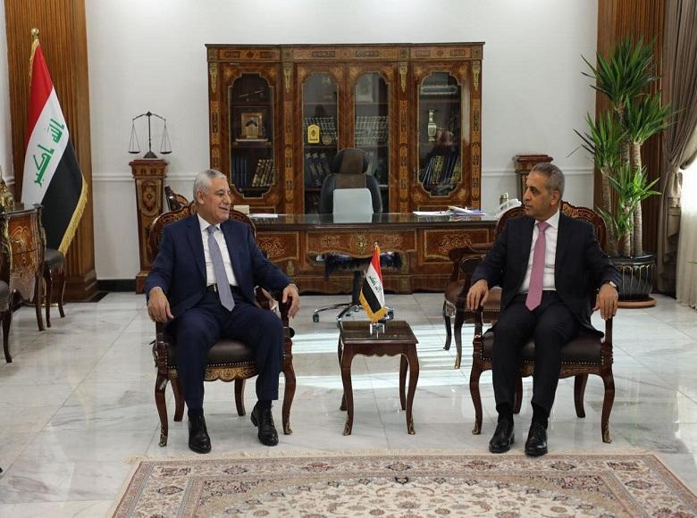 President of the Supreme Judicial Council Receives President of Jordanian Judicial Council