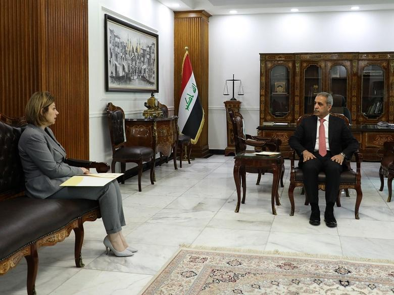 President of Supreme Judicial Council receives Minister of Displacement and Migration