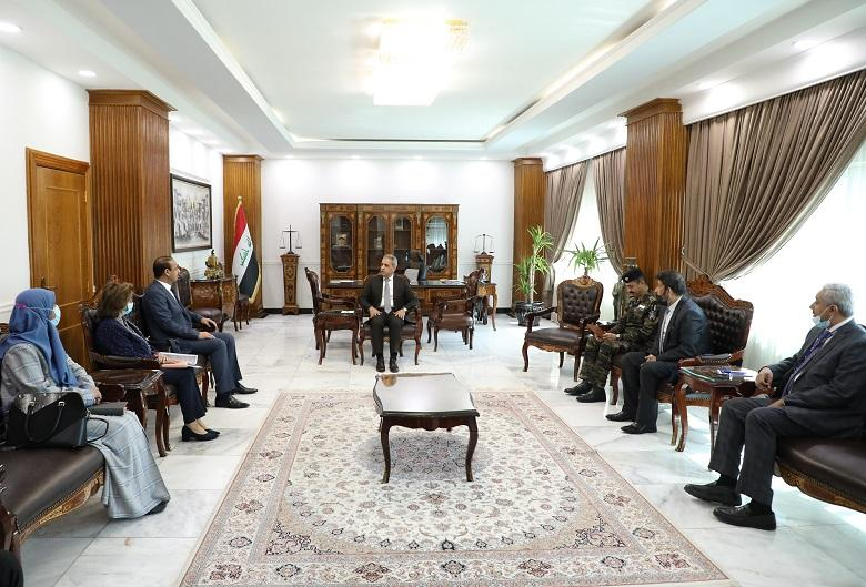 President of Supreme Judicial Council receives Minister of Labor and Social Affairs