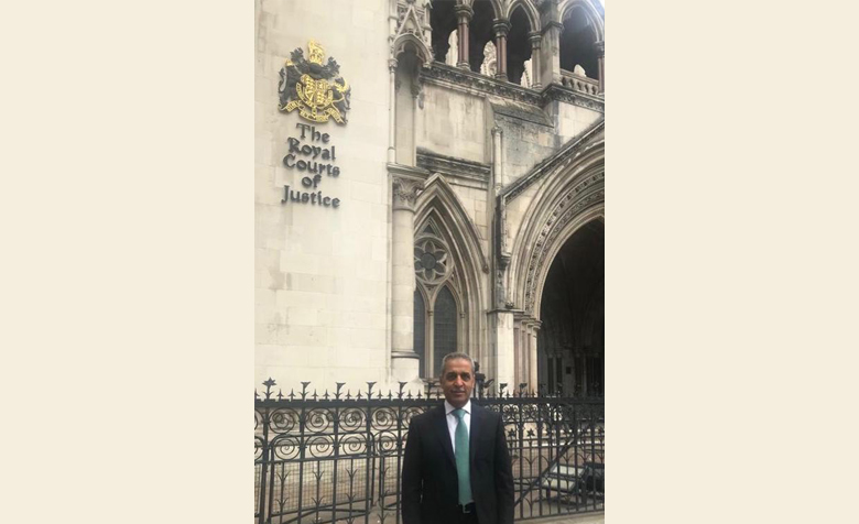 A successful and productive day for Chief Justice Faiq Zidan who visited the Royal Courts of Justice in London to met a delegation of senior UK judges.