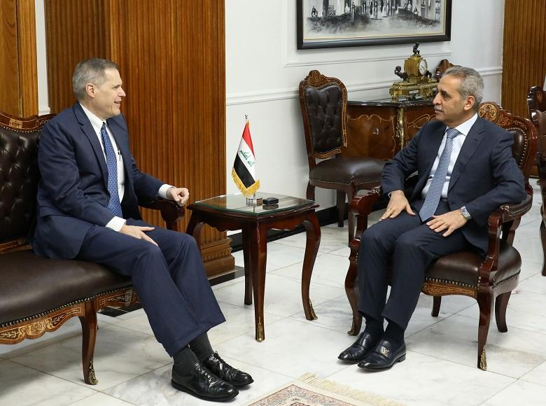Chairman of the Supreme Judicial Council receives the US ambassador
