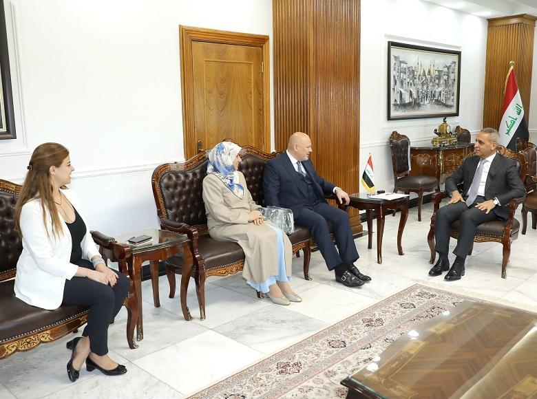President of the Supreme Judicial Council  Welcomes Head of ‎International Investigative Team of ISIL's  Crimes