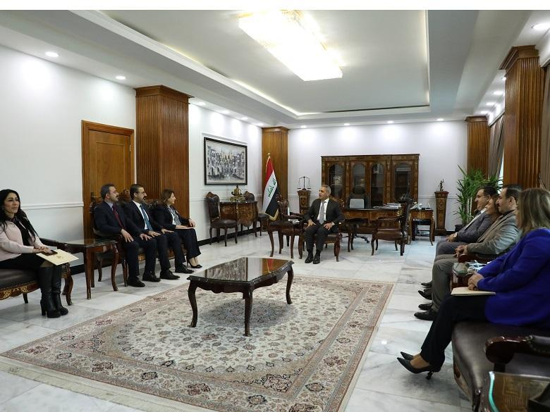 The President of the Supreme Judicial Council receives the Patriotic Union of Kurdistan party