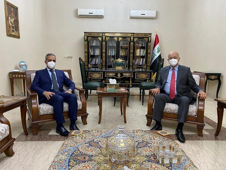 President of the Republic and President of the Supreme Judicial Council meet in Baghdad and discuss early elections and approving of important laws