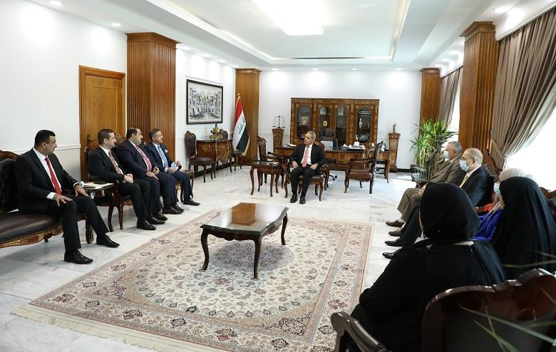 President of Supreme Judicial Council receives a number of members of Council of Representatives and discusses with them crime of Farhatiyah