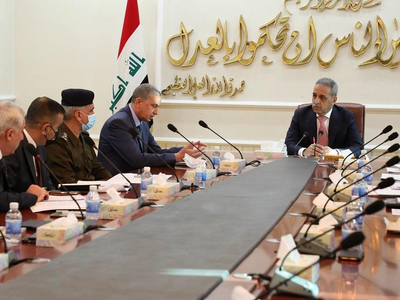 President of Supreme Judicial Council receives Minister of Interior and the accompanying delegation