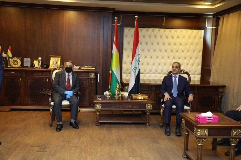 President of Supreme Judicial Council visits Council of Judiciary in Kurdistan Region and Erbil Appeal Court